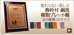 飾枠付 銅黒 樹脂プレート楯