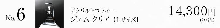アクリルトロフィー ジェム クリア 【Lサイズ】