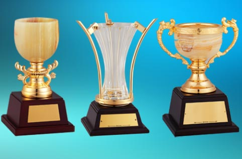 クリスタルカップ、オニックス、七宝カップ